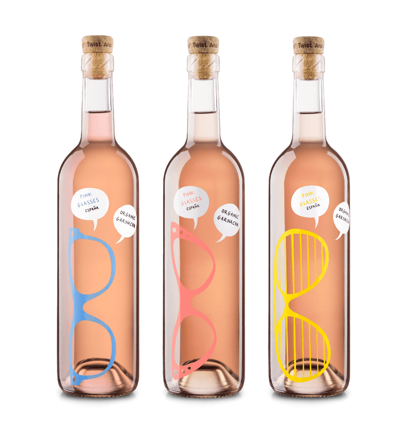 Neleman Pink Glasses Rosé Organic